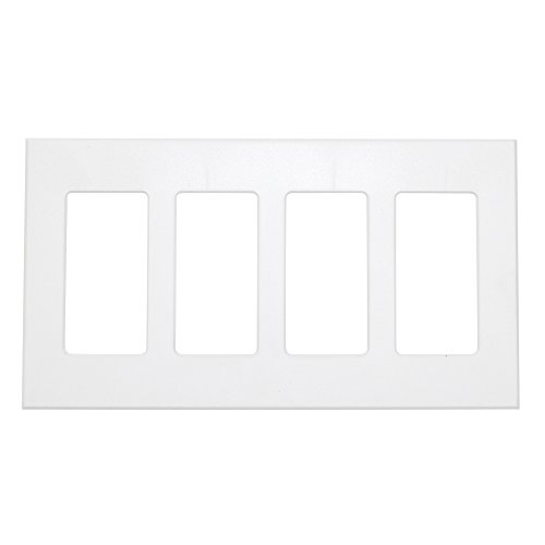 Control Gang (Lightolier Controls COM-FP4-WH 4 Gang Compli Designer Faceplate, White)