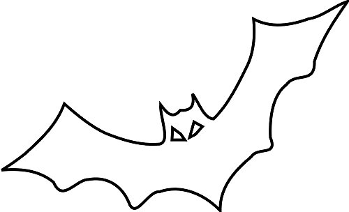 Gifts Delight Laminated 40x24 inches Poster: Bat Black Outline Bird Fly Halloween -