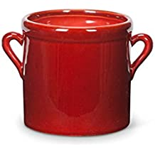 Amazon Com Red Ceramic Flower Pot