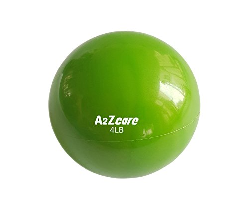 A2ZCare Toning Ball - Soft Weighted Mini Ball / Medicine Ball (Green (4lbs))