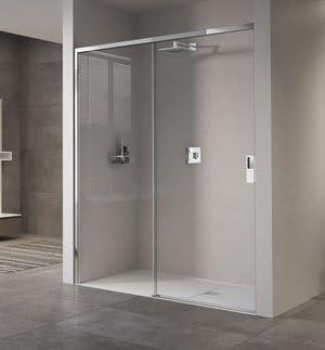 Mampara de ducha Opera 2PH en 2 paneles: fijo + deslizante. Vidrio seguridad 8 mm. Altura 200 cm. Profile Blanco o Cromo: Amazon.es: Bricolaje y herramientas