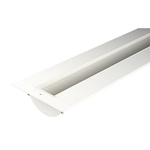 (WAC Lighting LED-T-RCH3-WT InvisiLED Linear Deep Recessed Downlight Channel, 8', White)
