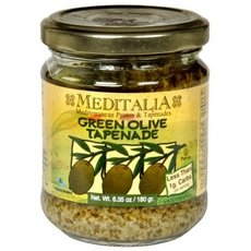 Meditalia Tapenade Green Olive Spread, 6.35-Ounce Jars (Pack of 6)
