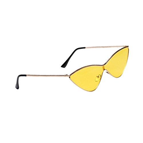 Triangle Lunette Homyl De Rétro Soleil Eyewear Jaune En Unisexe Mode Style Décontracté IUqRfwdqOn