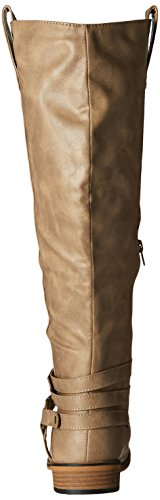 Womens Calf Wide Boot Bailey Taupe Regular Riding Brinley amp; Co 8wCH5xq