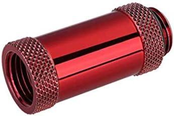 35mm Red 2 Pack Bykski Male//Female G1//4 Extension Coupler