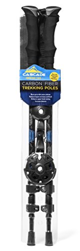 (Cascade Mountain Tech Carbon Fiber Collapsible Quick Lock Trekking Poles)