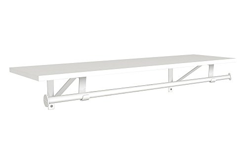 ClosetMaid 3305040 Wood Shelf with Hang Rod, 4-Foot X 12-Inch, White