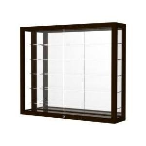 Heirloom Series Display Case - Waddell 8903K-MB-EK Heirloom Wall Case with Mirror Back44; Espresso Finish
