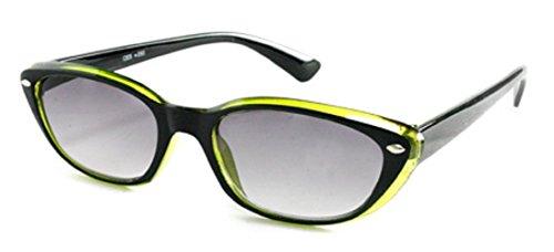 Women's Designer Rx Optical Cat Eye Magnification Fashion Sun Readers Tinted Reading Eye Glasses + 2.25 Green (Carrying Case - Prescription Zenni Optical Sunglasses