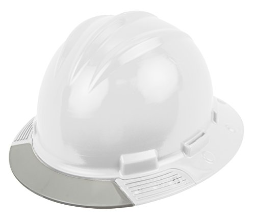 Bullard AVWHBG  Above View Hard Hat,  White, Vinyl Brow Pad, Ratchet Suspension, Grey Visor, One Size