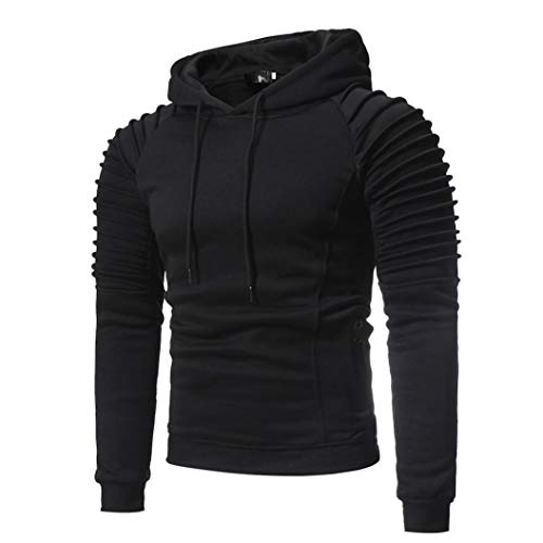 kaifongfu Hooded Tops,Men Hoodies Top Blouse Tracksuits for Autumn (Pink Baseball Seam Bracelet)