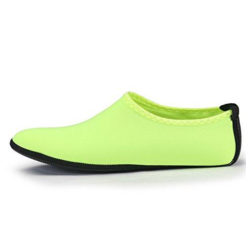 for Sea Socks slip Men Pool Beach fluorescent Anti Aqua Shoes Athletic Shoes Sport green Water Women pYYCqwnxvO