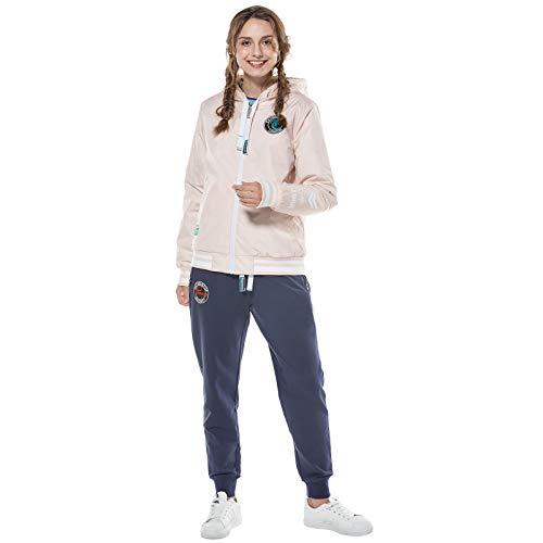 Mujer Impermeable Pantalones Chaquetas Ropa Las Chándales Suéter 3pcs Señoras De Chaqueta Piezas Traje Tres Deportiva Reversible Rosada Conjuntos rwAr7x