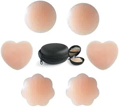 506c5c2e6c Silicone Nipples Cover 3 Pairs Womens Reusable Adhesive Nipple Covers  Invisible Silicone Cover