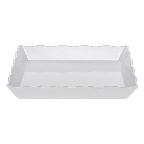 (Hubert Platter White Scalloped Melamine - 14