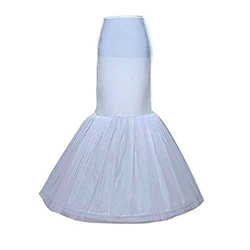 Bride Petticoat Crinoline Slip Wedding Bridal Dress Ball Gown Tier Floor Length (Waist:20-29inch, 2)