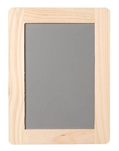 Sintético pizarra con marco de madera - 4 x 6 pulgadas ...