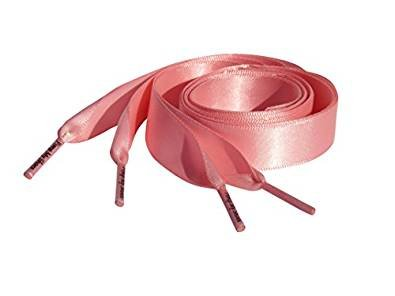 97fd54ca3a513c High Fashion Pink Satin Ribbon Shoelaces   Shoe Strings   Trainer Shoe Laces  To Fit Nike