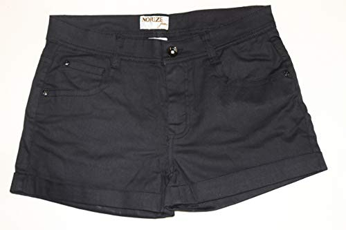 No Fuze Twill Junior Stretch Shorts 5 Pocket Cuffed Black -Size 13/14