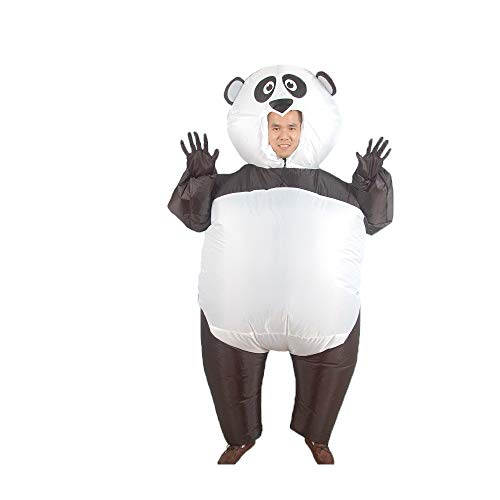 Mascot Inflatable Costume Lovely Brown Teddy Bear Purim Christmas Halloween Carnaval Anime Cosplay for Adult (Panda) -