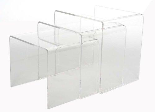Baxton Studio Acrylic Nesting Tables Clear Amazonca Home Kitchen - Clear nesting tables