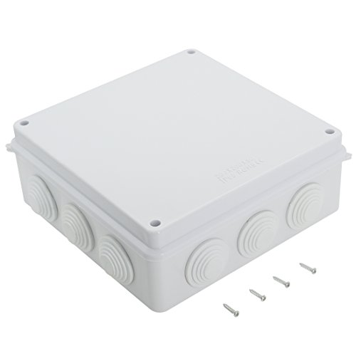 LeMotech ABS Plastic Dustproof Waterproof IP65 Junction Box Universal Electrical Project Enclosure White 7.9