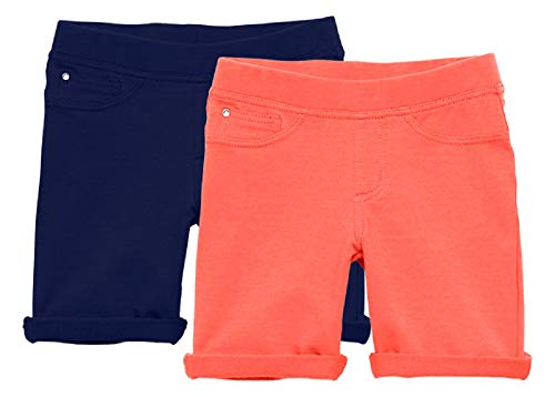 KIDPIK Bermuda Short 2packs- S- Calypso Coral/Kidpik - Shorts Girls Terry