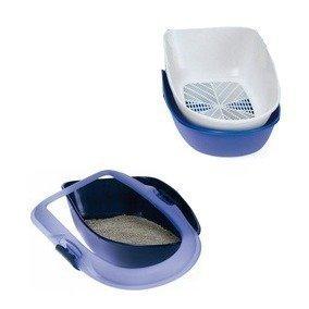 Trixie 40152 Berto Bandeja para gatos, 39 × 22 × 59 cm, azul claro/azul oscuro/granito: Amazon.es: Productos para mascotas