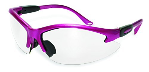 SSP Eyewear Womens Safety Glasses with Pink Frames & Clear Anti-Fog Lenses, COLUMBIA PK ()