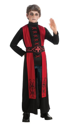 Deluxe Child's Gothic Priest Costume, Medium (Devil Robe Child Costume)