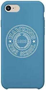 Hawkins High School Stranger Things iPhone 6 7 8 X Plus Plus Phone Case Cover Estuche para Funda de Teléfono De Carcasa Casco Protector Plástico Duro Divertido: Amazon.es: Electrónica