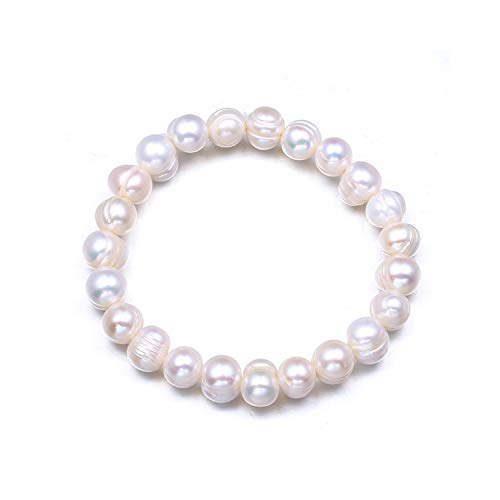 VBTY Beaded Stretch Bracelet, Stone Beads,Brand Fashion Women Pearl Bracelet Charm Chain Freshwater Pearl Beads Bracelet for Women Jewelry Pulseras Mujer Moda