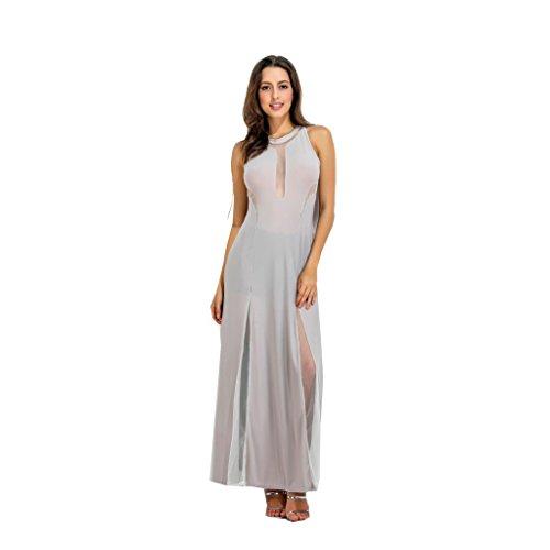 WANG Frauen Sommerkleider Sexy Kontrast Farbe Nähen Abendkleid ...