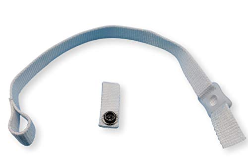zechy Hockey Helmet Chin Strap with Snap Replacement 15 Inches (White)