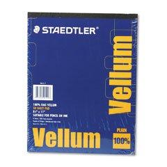 STAEDTLER Mars Vellum Paper, 16-lb., Rag, Letter, Translucent, 50 Sheets per Pad (Case of 6)