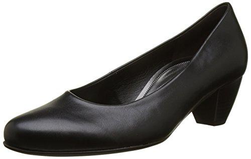 Basic 51 Black Women's Black 51 Schwarz Heels Closed Gabor Comfort Toe qAfHwEg