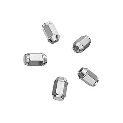 24pcs Silver Bulge Lug Nuts - Metric 12x1.5 Threads - Conical Cone Taper Acorn Seat Closed End - 1.4 inch Length - Installs with 19mm or 3/4 inch Hex Socket: Automotive