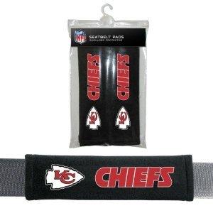 Fremont Die NFL Kansas City Chiefs Seat Belt Pad (Pack of 2) (Mens Printed City Belt)