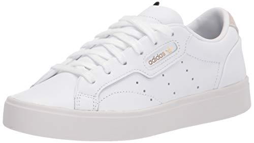 adidas Originals womens Sleek Sneaker, White/White/Crystal White, 8.5 US