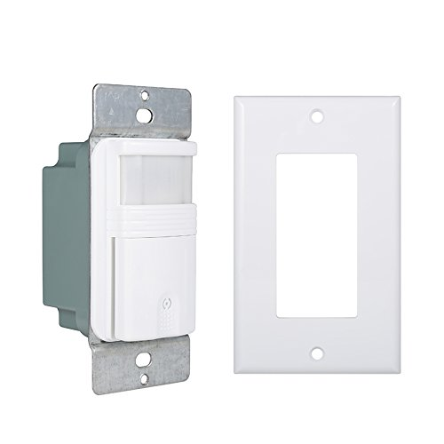 (Pack of 2) Motion Sensor Light Switch – For Indoor Use – Save Money On Lighting Costs - Smart Settings – Adjustable Timer – Suitable For Garages, Bathrooms, Closets, Basements and More (Single Pole Field Mount)