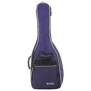 Rocktile 3/4 und 7/8 Klassik-Gitarrentasche – gepolstert mit Rucksackgarnitur Gigbag für Konzertgitarre Blau