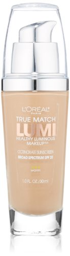 L'Oréal Paris True Match Lumi Healthy Luminous Makeup, W4 Natural Beige, 1 fl. oz.