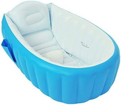 赤ん坊の膨脹可能な折る浴槽のプールの浴槽 (青)