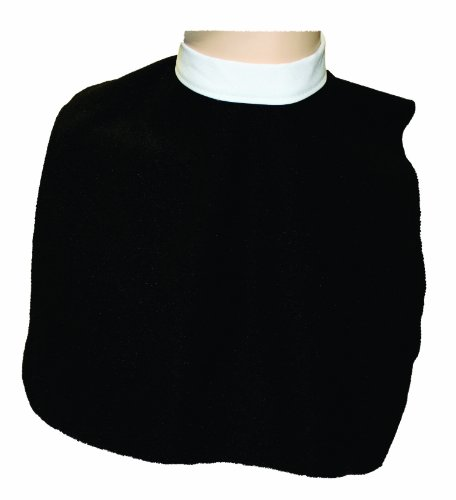 Alexanders Costumes Clergy Collar, Black, One Size (Priest Collar Costume)