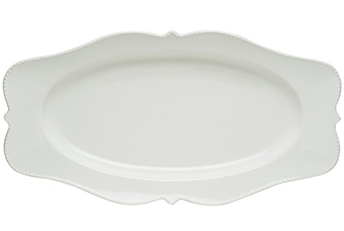Red Vanilla Pinpoint Oval Platter, 16.5