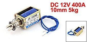 Elettromagnete a solenoide a telaio aperto a molla caricato a molla 10mm 5kg DC 12V 400A