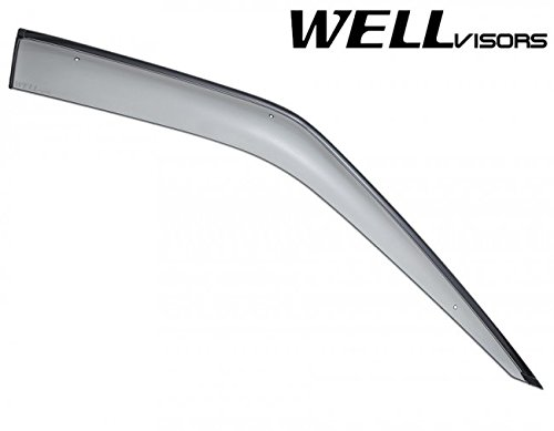 Replacement for 2006-2013 Land Rover Range Rover Clip-ON Chrome Trim Smoke Tinted Side Rain Guard Window Visors Deflectors 3-847LR004 by WellVisors (Image #4)