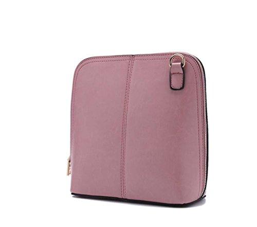Classica In Da Mano Donna Tipo Pelle A Tracolla Pink Conchiglia Borsa Spalla xIpzqXEWwq