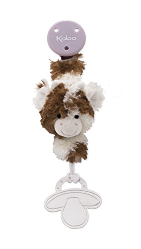 Kaloo Les Amis Pacifier Holder Cow-Brown & White (Brown White Cow)